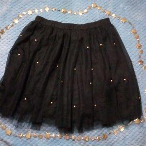 Bebe black skirt with dot studs